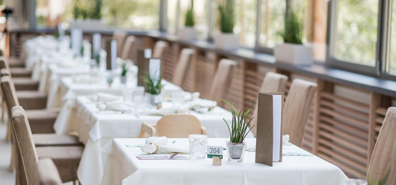 Restaurant vom Naturhotel Rainer in Südtirol.